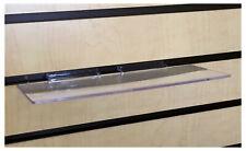 20 Slatwall Shelves Shelf Shoe 4 X 10 Display Flat Styrene Clear Acrylic Slat