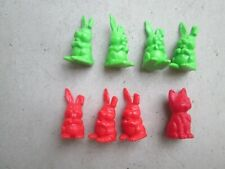Plastic Rabbits & Cat Figure