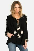 Pete & Greta Johnny Was Med Embroidered Gauze Blouse Boho Chic New P16418