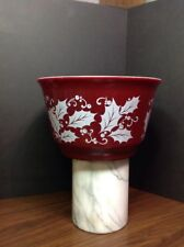 Milk Glass Mixing Bowl, HOLLY LEAF CHRISTMAS