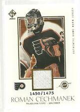2003 Pacific Private Stock Hockey Roman Cechmanek Jersey Card # 1450/1475