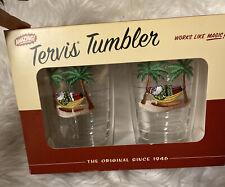 Tervis Tumblers NIB 16 oz Tropical Beach Santas On Hammock—-Set Of 2 —NEW