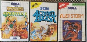 Gauntlet, Altered Beast, Alien Storm (CIB, VGC, Australian) Sega Master System
