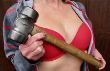 Vintage GRAYBAR Double Face Blacksmith Anvil Forge Farrier Rounding Hammer 2+Lbs
