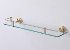 Bathroom Glass Storage Rack Shower Shelf Shampoo Cosmetic Basket Gold 304SUS New
