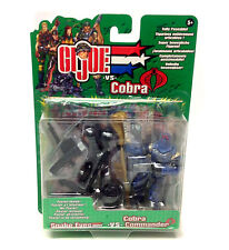 "Gi Joe V Cobra Snake Eyes Vs Cobra Commander 3.75"" Juguete Figura De Acción Set"