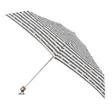 totes Miniflat Stripe with Copper Hearts Print Umbrella (5 Section)