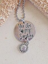 Beautiful Silver You Are My Sunshine Necklace. Beach. Ocean. Summer. Gift.