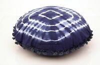 Indien Teinture Mandala Rond Housse Coussin Décorative Coton Jeté de Lit 40.6cm