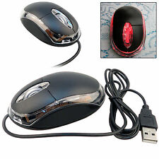 Negro USB Cable óptico Luz Rueda De Desplazamiento Ratones Ratón