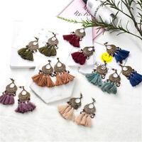 Fashion Bohemian Jewelry Elegant Tassel Earrings Long Fringe Drop Dangle Women