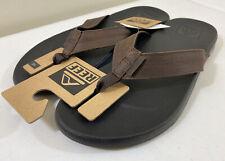 Reef Brown/Black Cushion Phantom Beach Pool Slide Sandals Men's Size 14
