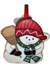 Vintage Handmade Holiday Winter Chrismas Decor Sownman Holder