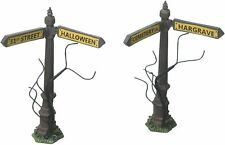 Department 56 Halloween Village Collections Creepy Street Signs Accessory