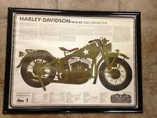 Vintage copy 1942 Harley Davidson WLA 45 Army Military Poster Springer 18x28