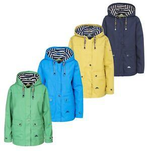 Trespass Womens Seawater Hooded Casual Waterproof Breathable Rain Jacket Coat