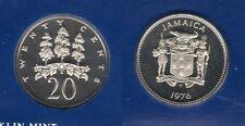 Jamaica Jamaique - 20 Cents 1976 Elisabeth II  PROOF UNC FDC 24 000 exemplaires