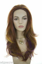 Vanity Gentle Layered Waves Long Straight Fun Colors Costume Wigs