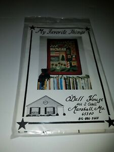 """MY FAVORITE THINGS 27 x 37"""" wall quilt, by O'Dell House, uncut pattern"""