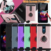 For LG K30 /Premier Pro LTE/Phoenix Plus Hybrid Hard Cover Case+Screen Protector