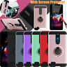 For LG K30 /Premier Pro LTE/Phoenix Plus Hybrid Hard Cover Case+Screen Protector