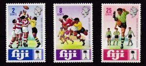 FIJI #330-332 MNH 60th ANNIV. OF FIJI RUGBY UNION