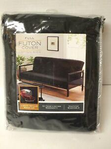 Cotton Futon Cover - Black - Size: Full 54in x 75in