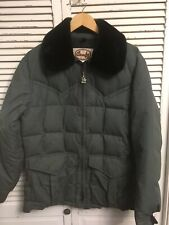 Vintage Comfy Quilted Puffer Down Insulated Jacket Made In USA Men's Medium