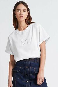 Aje Womens Stone Tee Shirt Classic Oversized S/Sleeve Logo T-shirt Jersey XXS-XL