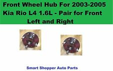 Front Wheel Hub For 2003-2005 Kia Rio L4 1.6L Pair (front left and right wheel)