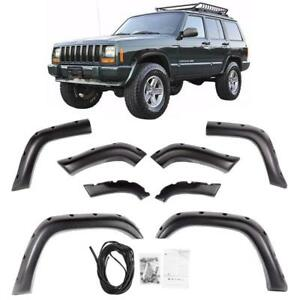 For 84-01 Jeep Cherokee XJ 4DR Pocket Rivet Style ABS Fender Flares