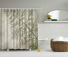 Sage Green Fern Leaf Photograph Artwork Digital Artwork Shower Curtain