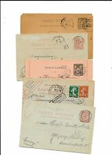 FRANCE- 5 older/used postal cards to Germany (1 from Egypt)