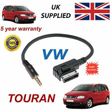 VW TOURAN MMI 000051446D 3.5mm jack input Samsung HTC LG MP3 iPod Audio Cable