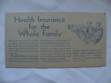 Vintage Shredded Wheat Health Insurance for Whole Family advertisement 1950's