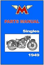 MATCHLESS Parts Manual Model G3 G80 Singles 1949 Replacement Spares Catalog List