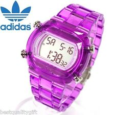 ADIDAS CANDY CLEAR PURPLE ACRYLIC STRAP DIGITAL WATCH-ADH6506-NEW
