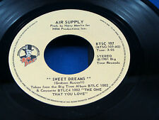 AIR SUPPLY - Sweet Dreams / Don't Turn Me Away - 1981 NEAR MINT- CANADA PRESSING