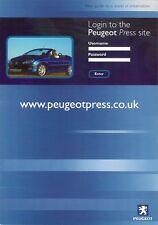 Peugeot Press Information Website c 2001 UK Market Brochure