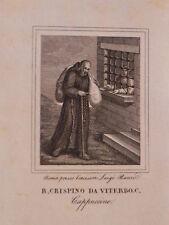 San Crispino da Viterbo acquaforte originale Luigi Banzo