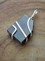 Labradorite Healing Pendant Silver Wire Wrap Natural Stone Moonstone Pendant
