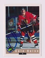 92/93 Classic Draft Cale Hulse Portland Winter Hawks Autographed Hockey Card