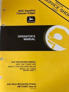 OM John Deere 85G Gasoline Trimmer/Edgers Issue J6 (C)