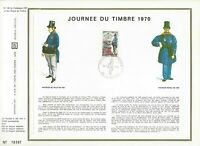 FEUILLET CEF 1er JOUR FRANCE JOURNÉE DU TIMBRE 1970 (1 TIMBRE)
