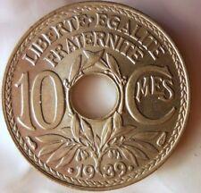 1939 Frankreich 10 Centimes - Ausgezeichnete au Frankreich bin #14