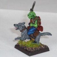 Goblin Wolfrider with katana Warhammer Fantasy Armies 28mm Unpainted Wargames