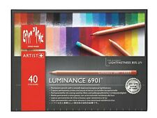 CARAN D'ACHE LUMINANCE 6901 COLOUR PENCILS - Box of 40 colour pencils