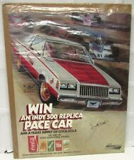 1981 Buick Regal Indy 500 Pace Car Coca-Cola Give-Away Poster Duke Nalon Signed