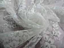 "Vintage Bridal Net Lace~Candlelight~18""x26""~ Bride Dolls"
