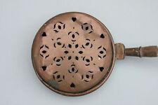 Kupfer Bettwärmer Bettpfanne, Frankreich, 19.Jahrhundert